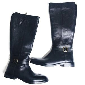 Sam Edelman Marlon EUC Leather Black Riding Boots